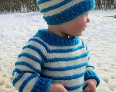 KNITTING PATTERN PDF baby sweater - toddler sweater- child's sweater - Knit pattern
