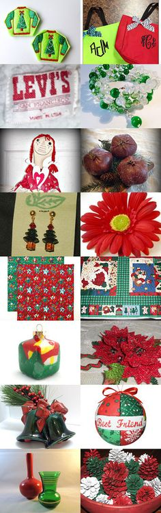 Red and Green - TeamUNITY Group 7 by JoAnne M Cagle on Etsy--Pinned with TreasuryPin.com