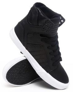 Skytop Embossed Mesh Hightop Sneakers by Supra   buy these at  http://www.drjays.com/shop/P1579480/product.html  for 77.99