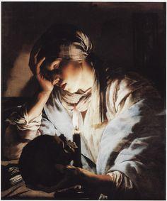 Hendrik ter Brugghen, Melancholia or Mary Magdalen, 1627-28