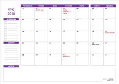 Kalendarz do druku – maj 2018 Maj