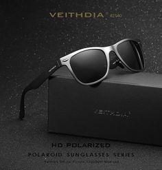 VEITHDIA Aluminum Men's Polarized Mirror Sun Glasses