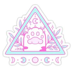 Wicca stickers featuring millions of original designs created by independent artists. Decorate your laptops, water bottles, notebooks and windows. 4 sizes available. Anime Stickers, Kawaii Stickers, Laptop Stickers, Griffonnages Kawaii, Arte Do Kawaii, Journal Stickers, Planner Stickers, Image Bougie, Japon Illustration