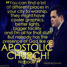 """""""Don't you ever be ashamed of who you are and how we worship."""" David McGovern North American Youth Congress Louisville, Kentucky August 8th, 2013"""