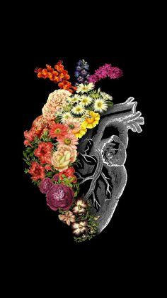 'Flower Heart Spring' Poster by tobiasfonseca - Verschönerung - Wallpaper Heart Iphone Wallpaper, Tumblr Wallpaper, Mobile Wallpaper, Wallpaper Backgrounds, Wallpaper Quotes, Wallpaper Art, Nature Wallpaper, Screen Wallpaper, Art Floral