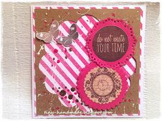 Do not waste your time Cards, Handmade, Hand Made, Maps, Playing Cards, Handarbeit