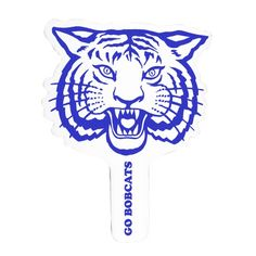 Bobcat Wildcat Hand Fan Rally Sign from  School Spirit Store Great for Basketball Games and warm Football Days