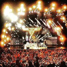 Van Halen in Seattle on July 5, 2015 for their first performance of the 2015 Summer Tour with David Lee Roth and Eddie's son Wolfgang.
