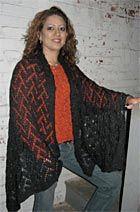 Free pattern! Tuxedo Shawl knit in Kraemer Yarns Sterling Silk and Silver
