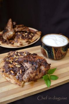 Musakhan (Palestinian Sumac chicken with sauteed onions) - original version of what we made // Lebanese / Middle eastern
