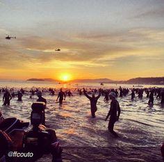 #Beautiful, the start of the Ironman #Triathlon, Brasil