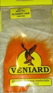 Available in a large range of popular colours. This listing is for a NEW Veniard Arctic Runner Hair.  Primarily designed for fly tying but can equally be used in arts and crafts/jewellery.   Variety of colours available, please choose using the drop down selection.    Veniards Arctic Runner Hair is a beautiful soft mobile hair from Iceland.  Bright and translucent, it is a perfect hair for winging flies.