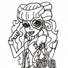 1000 images about Free Monster High Coloring Pages on