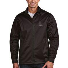 TPC Scottsdale Antigua Golf Full Zip Jacket - Black