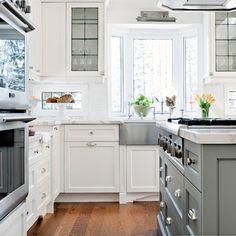 Cloud white cabinetry, glass shelves, Palmer Circle - Elizabeth Metcalfe Interiors & Design Inc.