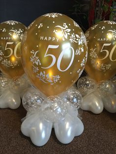 wedding anniversary gifts to husband 50th Birthday Party Decorations, Gold Party Decorations, Anniversary Decorations, Golden Anniversary Gifts, 50th Wedding Anniversary, Anniversary Parties, Moms 50th Birthday, 60th Birthday Party, Balloon Gift