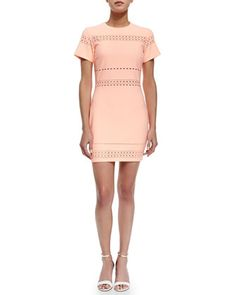 Ari Cutout-Trim Fitted Dress by Elizabeth and James at Neiman Marcus.