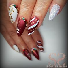 """3,792 Likes, 27 Comments - NAILPRO Magazine (@nailpromagazine) on Instagram: """"We love the embossed detail on this festive set @scarlett_senternailartist ✨❄️#NAILPRO"""""""