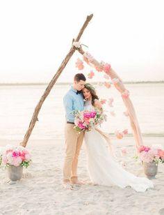 14 Gorgeous Beach Weddings to Give You MAJOR Wanderlust via Brit + Co