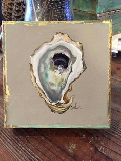 The Uptown Acorn: Original Oyster Art Painting Inspiration, Art Inspo, Oyster Shell Crafts, Oyster Shells, Kunst Inspo, Louisiana Art, Seashell Painting, Painted Shells, Sea Art