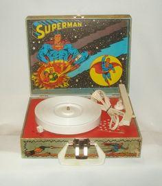 Vintage Old 1978 DC Comics Superman Superhero Phonograph Record Player Portable | eBay