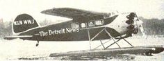 Lockheed Vega 5C floatplane 'The Detroit News' (NC32M) sold in 1930 to the Evening News Association, Detroit, Michigan