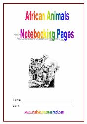 St Aidens Homeschool ~ Free Prek-3 Africa Activity Books, African Maps, African Animals, South Africa, Notebooking Pages and more
