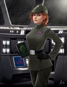 Allegra Ames: Imperial Lieutenant by Mauricio-Morali.deviantart.com on @DeviantArt