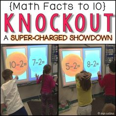 This quick-paced, nail-biter of a math game will leave your kids BEGGING for more! Team up to knock out the other team's player. The last team standing wins! This is by far the most engaging thing I've done for my classroom this year. My kids get SO excited when we play, and they work super hard all week practicing their math facts just so they can improve their Knockout game!Not only is this great for learning math facts, but it builds character as it emphasizes teamwork and good…