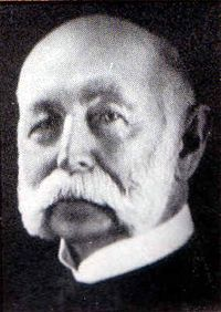 James Vernor, inventor of Vernor's Ginger Ale, which was first served to the public in 1866. Vernor was a pharmacist in Detroit, MI, who was working on a tonic of vanilla, spices and ginger to calm the stomach, when he was called to serve in the Civil War. He left the blend in an oak cask in 1862. He returned and opened the barrel to find the beverage's zesty, sweet and ginger flavor accentuated by the wood's aging process. Vernor is buried in Woodmere Cemetery in Detroit, MI.