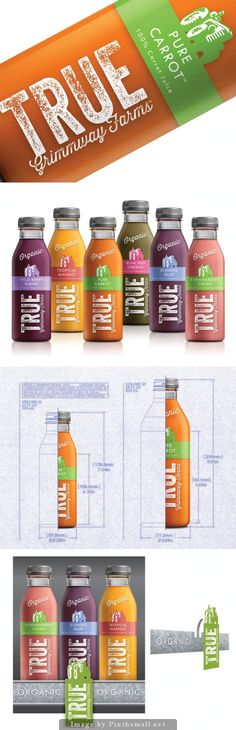 True Organic #Juice - Creative Agency: McLean Design on Packaging of the World