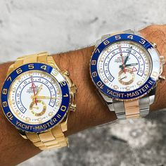 Yacht-master II Life  Left or right?  Two-tone $17500 All gold $27500 Visit our boutique or email to purchase these gems