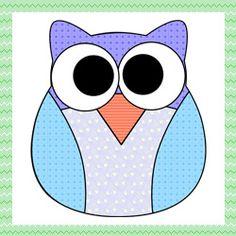 Molde de Corujinha 5 para patch aplique - Drika Artesanato - Dicas e sugestões sobre artesanato.