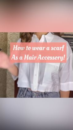 Hair Scarf Styles, Front Hair Styles, Diy Clothes And Shoes, Clothes Crafts, Bun Hairstyles For Long Hair, Scarf Hairstyles, Diy Fashion Hacks, Fashion Tips, Cute Outfits With Shorts