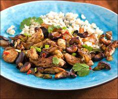 Kylling med cashewnøtter Kung Pao Chicken, Ethnic Recipes, Food, Meals, Yemek, Eten