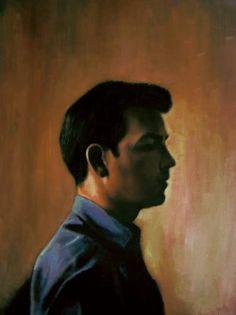 "Saatchi Art Artist Matthew Hickey; Painting, ""Self Portrait profile"" #art"