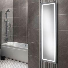 View the Illuminated LED Mirror 420 x 1400 - Zeus Range. Illuminated Mirrors, Led Mirror, Amazing Bathrooms, Bathtub, Standing Bath, Bathtubs, Bath Tube, Bath Tub, Tub