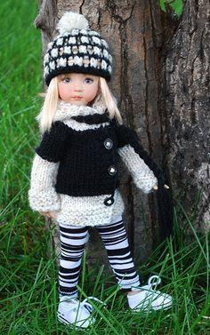bw2 | Flickr - Photo Sharing! Doll Patterns Free, Knitting Patterns, Girl Dolls, Baby Dolls, Chunky Knitwear, Little Darlings, Vintage Dolls, Refashion, Beautiful Dolls