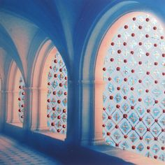 """Atelier Jen -abbey cloisters with added pizzazz. Handpainted photograph from my""""Adorn"""" series"""