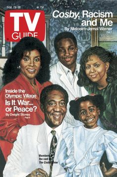 TV Guide September 24, 1988 - Phylicia Rashad, Malcolm Jamal Warner, Tempestt Bledsoe, Bill Cosby and Keshia Knight Pulliam of The Cosby Show. Illustration by ?