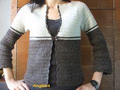 Angelica lucreaza: Jacheta crosetata Crochet Clothes, Sweaters, Fashion, Clothing, Moda, Fashion Styles, Fasion, Sweater