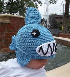 crochet pattern shark hat $5
