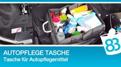 Autopflege Tasche - Pflegetasche für Fahrzeugpflegemittel - Tasche für...