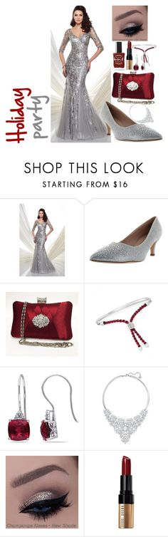 """""""The Holiday party"""" by anna-bigsis ❤ liked on Polyvore featuring Mon Cheri, De Blossom, Ross-Simons, Miadora, Swarovski, Bobbi Brown Cosmetics, Lauren B. Beauty and motherdaughteroutfit"""