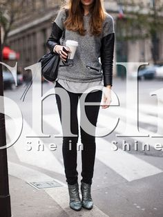 Shop Grey Black Long Sleeve Color Block Sweatshirt online. SheIn offers Grey Black Long Sleeve Color Block Sweatshirt & more to fit your fashionable needs.