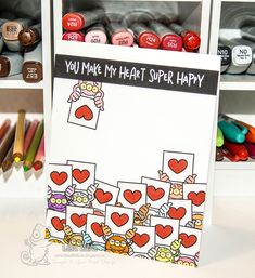 Your Next Stamp:  Silly Love Monsters stamp and die sets, Whatnots Sentiments Set Eleven #yournextstamp