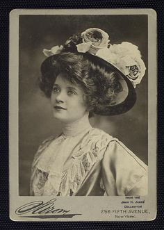 A young Billie Burke-Best known as Glenda The Good Witch in 'The Wizard of Oz'. She was married to , and was the widow of, Florenz Ziegfeld of the Ziegfeld Follies. Photo from the Billy Rose Theater Collection, nypl.org