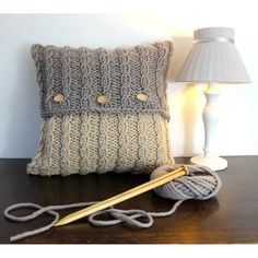 Knitted Cushion Covers, Cushion Cover Pattern, Knitted Cushions, Knitted Cushion Pattern, Knitting Terms, Knitting Patterns, Crochet Patterns, Crochet Pillow, Knit Or Crochet