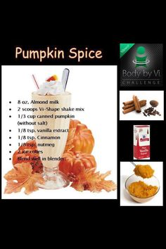 Pumpkin spice VISALUS shake