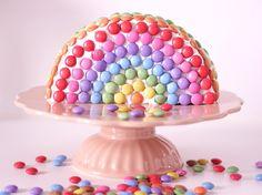 Easypeasy Rainbow-Cake / Regenbogenkuchen einfach / Smarties / Kindergeburtstag Ideen